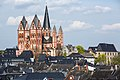 Limburg an der Lahn-Dom mit Altstadt von Suedwesten-20140402.jpg