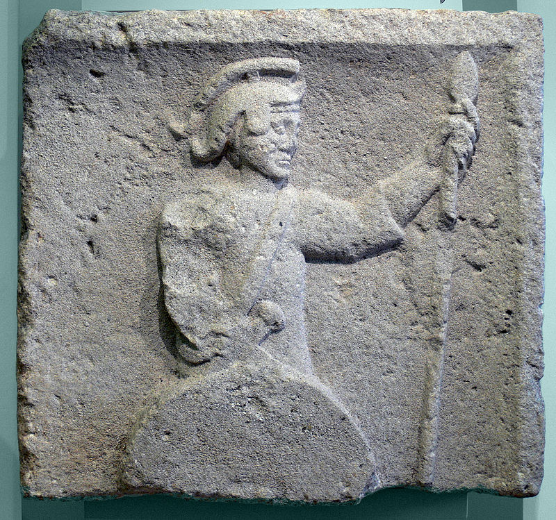 Roman soldier of the 4th. century AD, from Linz in Upper Austria (image from Wikimedia)