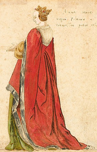 Anna, Grand Duchess of Lithuania - 16th-century miniature of Anna