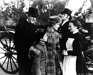 Una O'Connor (actress) - Una O'Connor (right) as Mary from Little Lord Fauntleroy (1936) with (l. to r.) Henry Stephenson, Freddie Bartholomew and Dolores Costello