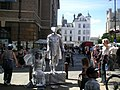 Living statues in Market Hill - geograph.org.uk - 570426.jpg