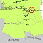 Localització de Poblenou de la Corona respecte de l'Horta Sud.png