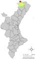 Localització de Sorita de Morella respecte del País Valencià.png