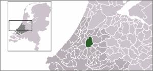 Benthuizen - Image: Locatie Rijnwoude