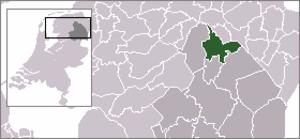 Zuidlaarderveen - Image: Locatie Tynaarlo