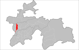 Location of Hisor District in Tajikistan.png