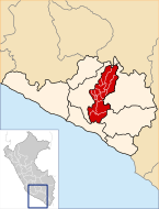 Location of the province Castilla in Arequipa.svg