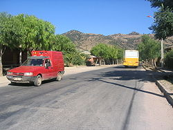 View of one of the streets of Lolol, near the Esperanza neighborhood.