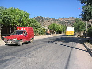 Lolol - View of one of the streets of Lolol, near the Esperanza neighborhood.