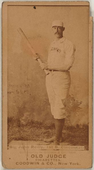 John Reilly (baseball) - Image: Long John Reilly baseball card