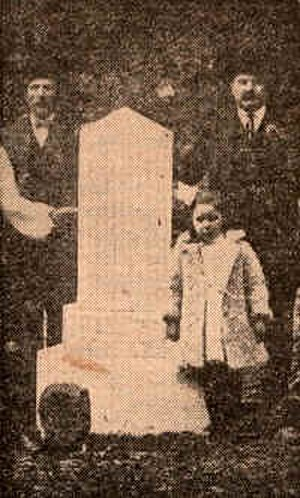 Lost Children of the Alleghenies - Newspaper picture of monument dedication in 1910.