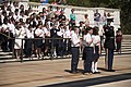 Loudon Day School lays a wreath at the Tomb of the Unknown Soldier in Arlington National Cemetery (26481770246).jpg