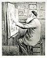 Louise Danse - Auguste Danse travaillant - Graphic work - Royal Library of Belgium - 3322-C.jpg