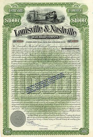 Louisville and Nashville Railroad - Image: Louisville & Nashville RR 1890