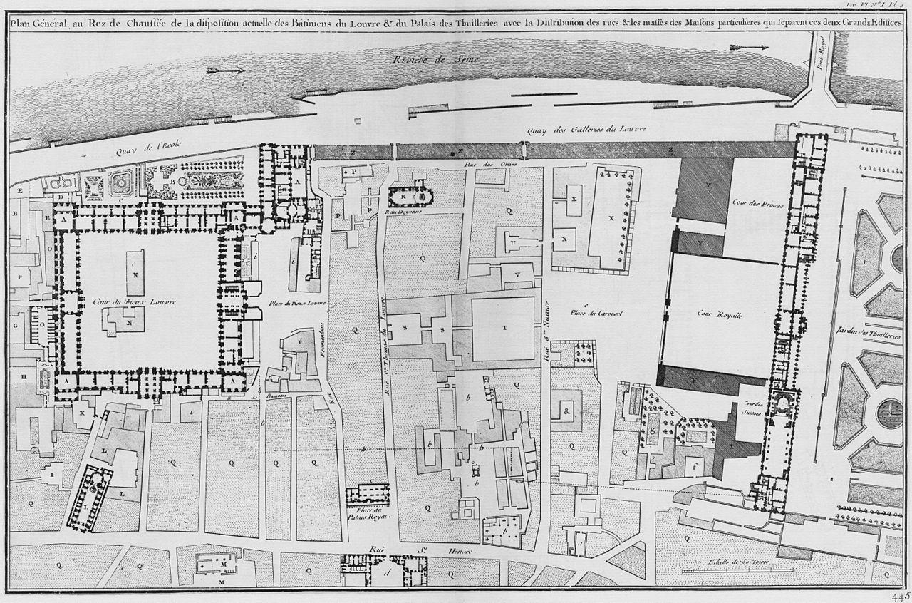 filelouvre et tuileries plan g233n233ral de la disposition