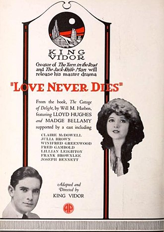 Love Never Dies (1921 film) - Advertisement