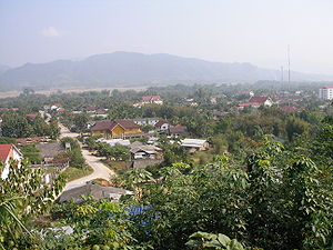 Battle of Luang Namtha - Luang Namtha as seen from the northwest. This would be the point of view of anyone approaching from Muang Sing.
