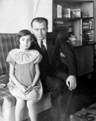 Lucian Blaga - Blaga with daughter