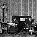 Ludmilla Pitoëff et Nora Sylvère dans Mademoiselle Bourrat (1923).jpg