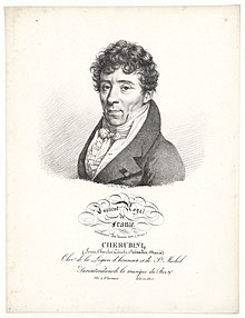 Luigi Cherubini as member of the Institut Royal de France, Académie des Beaux-Arts, c. 1820. (Source: Wikimedia)