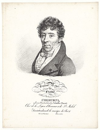 Luigi Cherubini - Luigi Cherubini as member of the Institut Royal de France, Académie des Beaux-Arts, c. 1820.