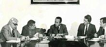 Luigi Silori, Walter Mauro, Giorgio Bassani, Roberto Bettega, Giuseppe Brunamontini (1974).jpg
