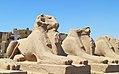 Luxor Karnak-Tempel 2016-03-21 Widder-Sphinx-Allee 02.jpg