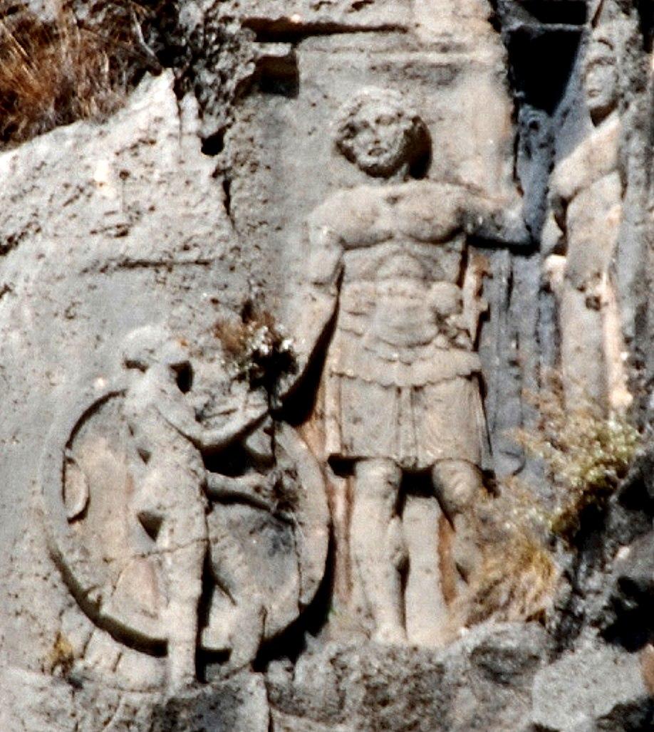 Lycian tomb relief at Myra 4th century BCE