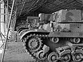 Mátyásföld, Újszász utca 41-43. Magyar Királyi Honvéd gépkocsiszertár, Turán típusú harckocsik. Fortepan 72449.jpg