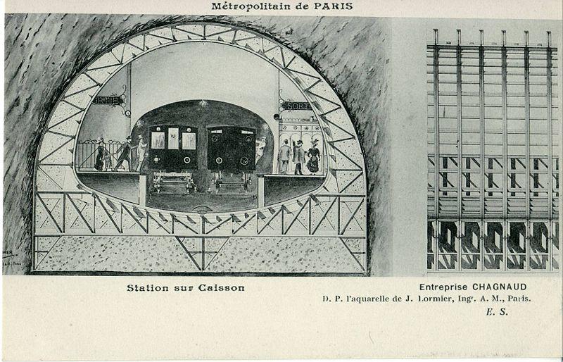 Métropolitain de Paris - station sur caisson