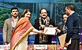 M. Venkaiah Naidu conferring the awards to representatives from ODF districts under Swachh Bharat Mission, in New Delhi.jpg