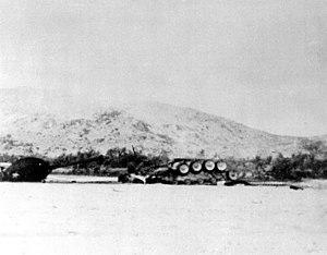 M48 Patton - A destroyed M48A3 during Vietnam war