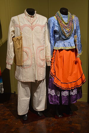 Tepehuán people - Traditional male and female Tepehuán dress from Durango.