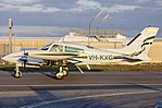 MH George Properties Pty Ltd (VH-KXG) Cessna T310R taxiing at Wagga Wagga Airport.jpg
