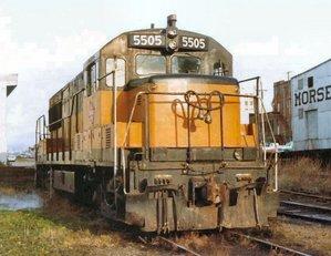 GE U28B - Image: MILW U28B 5505