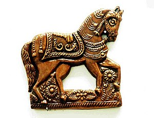 Gingerbread house - A gingerbread print horse