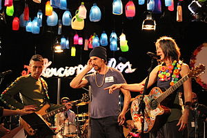 Latin rock - Colombian band Aterciopelados with the Spaniard Macaco.