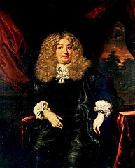 Portrait of a man in a wig