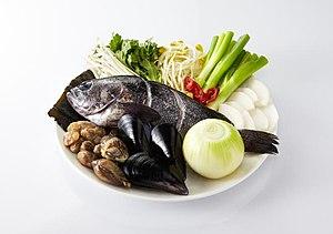 Maeun-tang - Image: Maeuntang ingredients