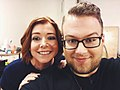 Magician Kyle Marlett backstage with Alyson Hannigan at The CW's Penn & Teller Fool Us.jpg