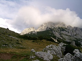 Maglić (mountain) - Maglić's peak covered with clouds.