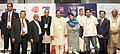 Mahesh Sharma, the Chief Minister of Jammu and Kashmir, Ms. Mehbooba Mufti and other dignitaries at the inauguration of the BITB (Bharat International Tourism Bazaar), in New Delhi.jpg