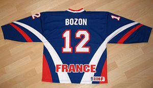 Hockey jersey - Back of the France national ice hockey sweater