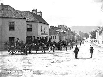 Kenmare - View of Main Street in Kenmare (between the 1880s and early 1900s)