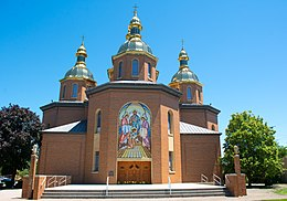 Main entrance - St Josaphat Ukrainian Catholic Cathedral (48106356271).jpg