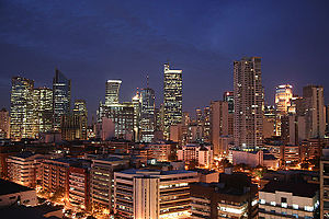 Makati CBD skyline at the start of dawn