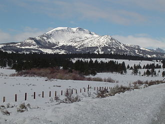 Mammoth Mountain - Mammoth Mountain from U.S. Route 395