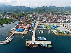 Aerial view of the Port of Mamuju