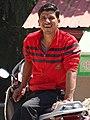 Man on Motorbike - Bhagsu - Near McLeod Ganj - Himachal Pradesh - India (26539676930).jpg