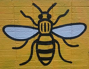 Worker bee - Bee art in Manchester's Northern Quarter